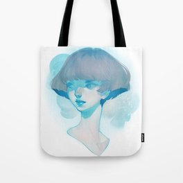 visage - blue Tote Bag