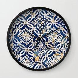 Portuguese glazed tiles Wall Clock