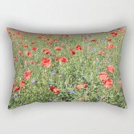 poppy flower no5 Rectangular Pillow