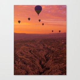 Balloons on Cappadocia Valley Canvas Print