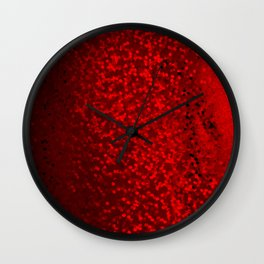 Red sequins Wall Clock