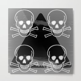 ALL SEING SKULL Metal Print