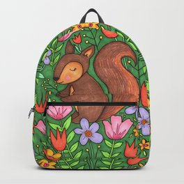 Spring Squirrel Backpack