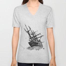wrecked ship Unisex V-Neck