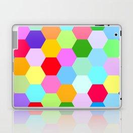 Multicoloured Hexagon Pattern Laptop & iPad Skin