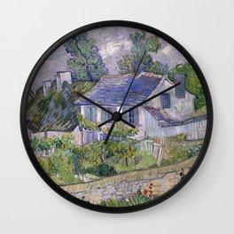 Vincent Van Gogh - Houses at Auvers Wall Clock