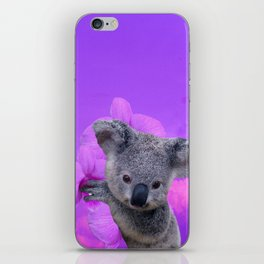 Koala and Orchid iPhone Skin