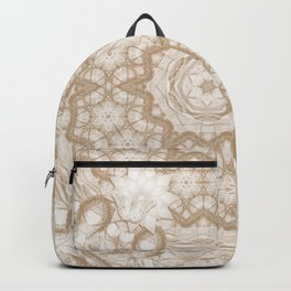 Butterfly on mandala in iced coffee tones Backpack