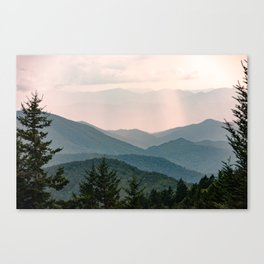 Smoky Mountain Pastel Sunset Leinwanddruck