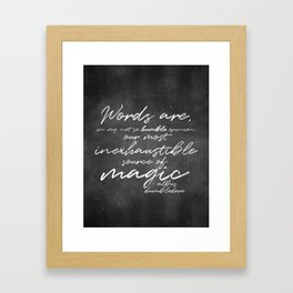 Words Are Magic (Dark) Framed Art Print