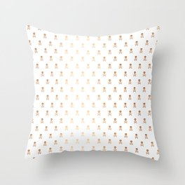 ROSE GOLD SKULLS ALL OVER PRINT LARGE Throw Pillow