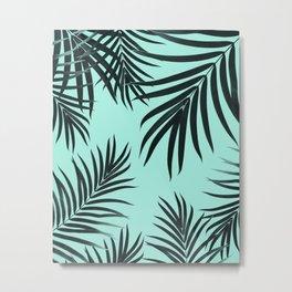 Palm Leaves Pattern Summer Vibes #7 #tropical #decor #art #society6 Metal Print