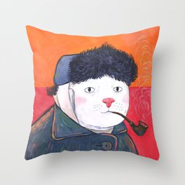 Van Cat Throw Pillow