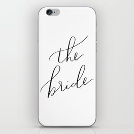 the bride iPhone Skin