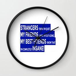 Real Friends True Friendship Wall Clock