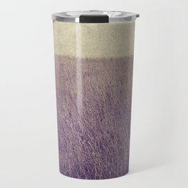 Purple field Travel Mug