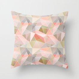 Broken glass in warm colors. Throw Pillow