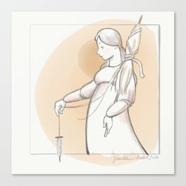 Saint Distaff's Day Canvas Print
