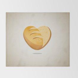 Loving bread Throw Blanket