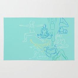 Turquoise Yoga Rug