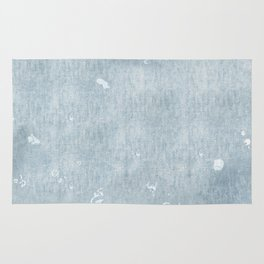 distressed chambray denim Rug
