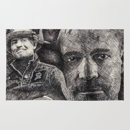 Gord Downie  Tribute Pen & Ink Drawing Rug