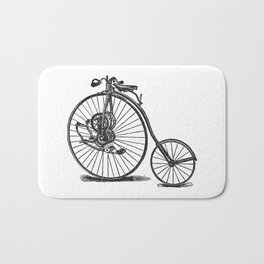 Old bicycle Bath Mat