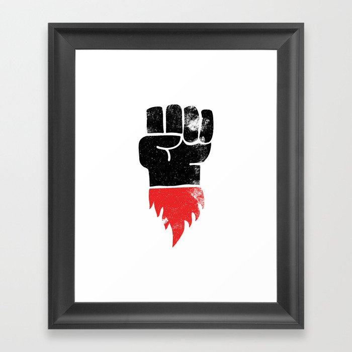 Resist Fist Framed Art Print