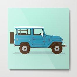 Toyota Landcruiser FJ40 Illustration Metal Print