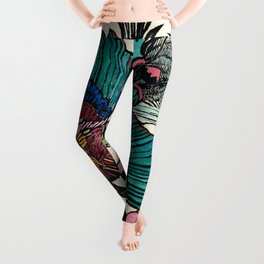 """Bird of Paradise"" by Margaret Preston Leggings"