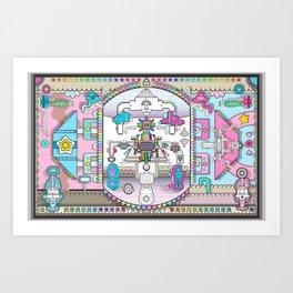 perspective_blue_pink_wallpaper_large Art Print