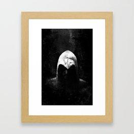 Roman Assassin Hood - B&W Framed Art Print