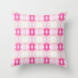 Minty Rose (Abstract Painting) Throw Pillow