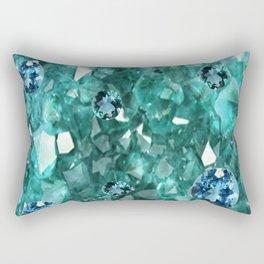 AQUA GEMS & CRYSTALS  SEPTEMBER BIRTHSTONE Rectangular Pillow