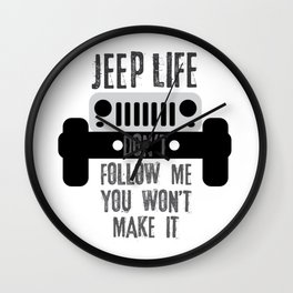 Jeep Life Wall Clock