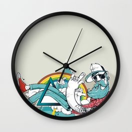 Hipster Rules Wall Clock