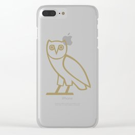 OVO Owl (Gold) Clear iPhone Case