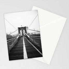 Brooklyn Bridge Black and White Stationery Cards
