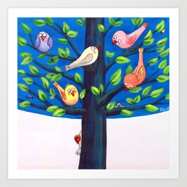 Birdy Tree Art Print