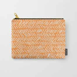 Sherbet Herringbone Lines Carry-All Pouch