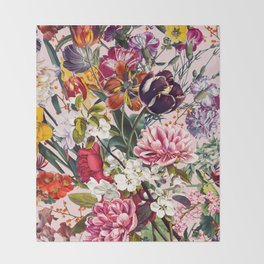Exotic Garden - Summer Throw Blanket