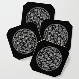 Flower of Life and Star of David Coaster