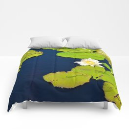 Dark Blue Pond by Teresa Thompson Comforters