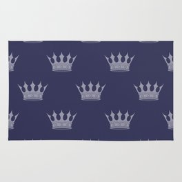 Royal Blue with Light Blue Crowns Rug