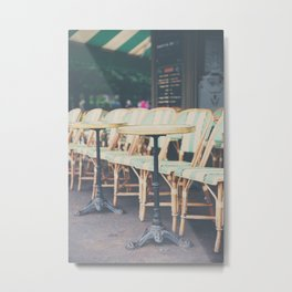 tables & chairs ... Metal Print