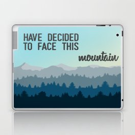 Face This Mountain (Jon Foreman Lyrics Illustration) Laptop & iPad Skin