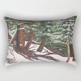 Snowing at Mount Baldy Rectangular Pillow