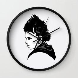 Portrait of Lisbeth Salander Wall Clock