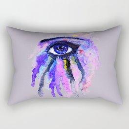 Blue eye splashing Rectangular Pillow
