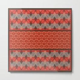 Bohemian Kilim Pattern Mosaic Metal Print